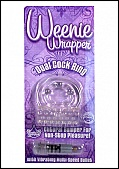 Weenie Wrapper- Dual Cock Ring - Clear (74378.6)